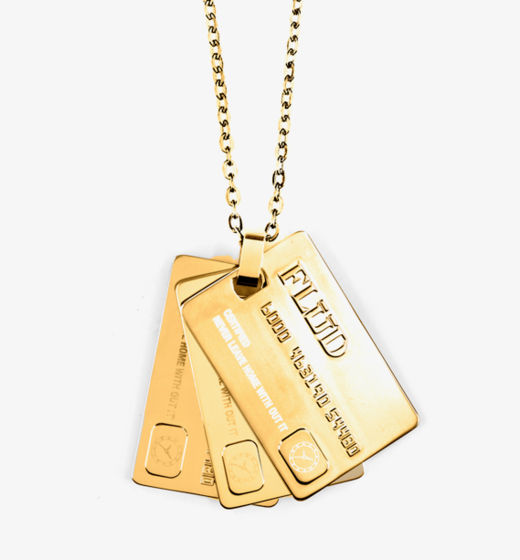 Flud The Card Pendant Gold_raannt
