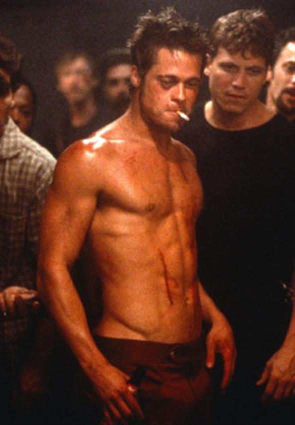 brad pitt fight club shirtless sexy_raannt