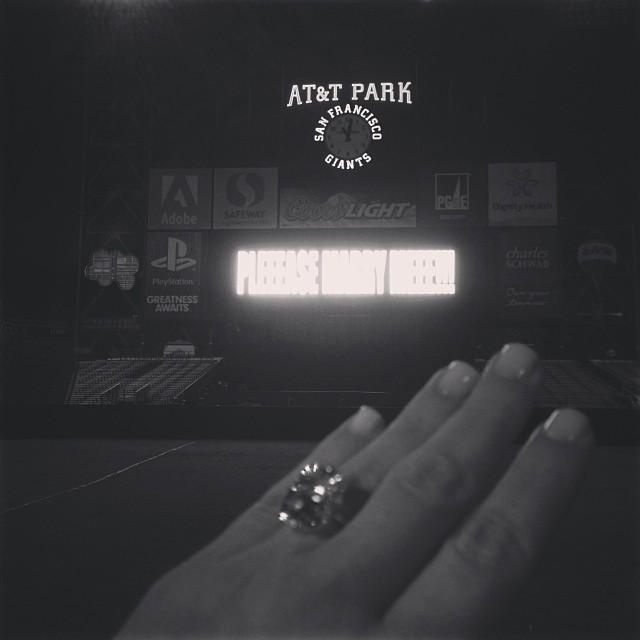 kim kardashian kanye west engaged engagement ring_raannt
