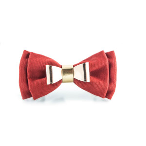 punk monsier red bow tie_raannt