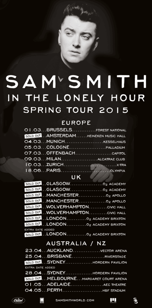 sam smith tour dates 2014 2015_raannt