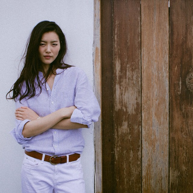 Both photographs from Liu Wen's Instagram.