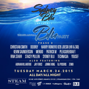 SYDNEY BLU presents: The 6th Annual BLU PARTY