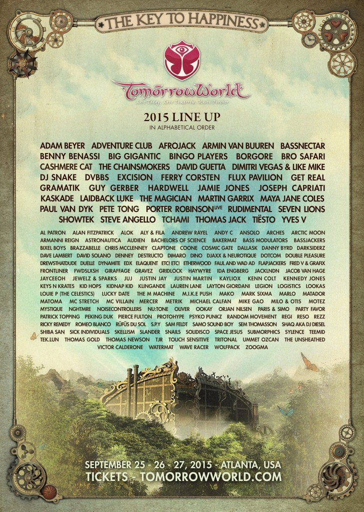 TomorrowWorld 2015 FULL massive lineup