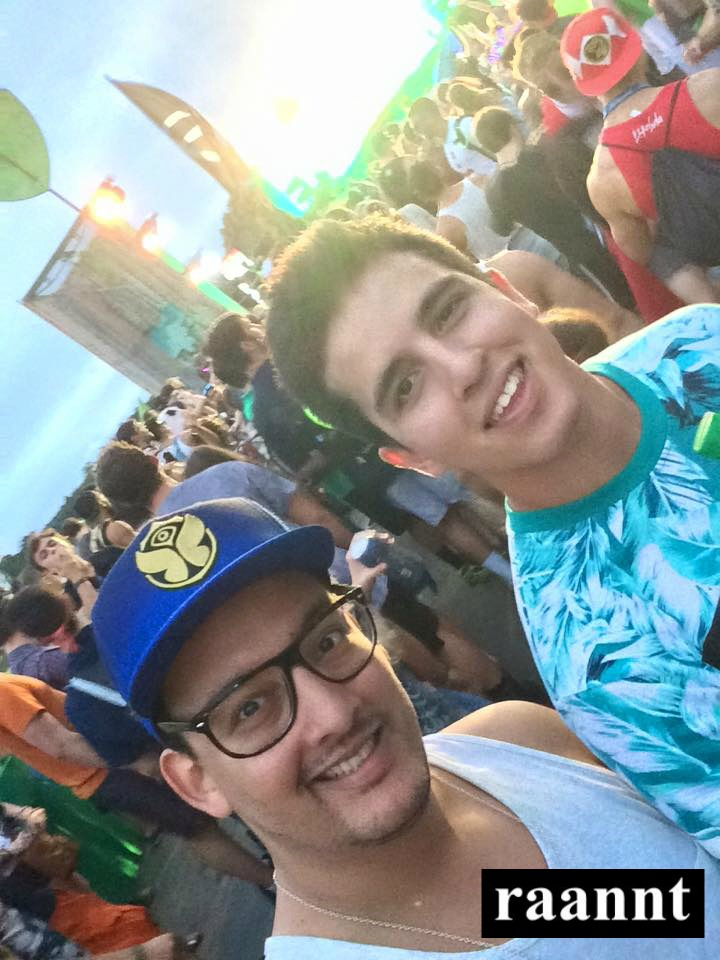 Alex and our college intern Juan at TomorrowWorld 2015