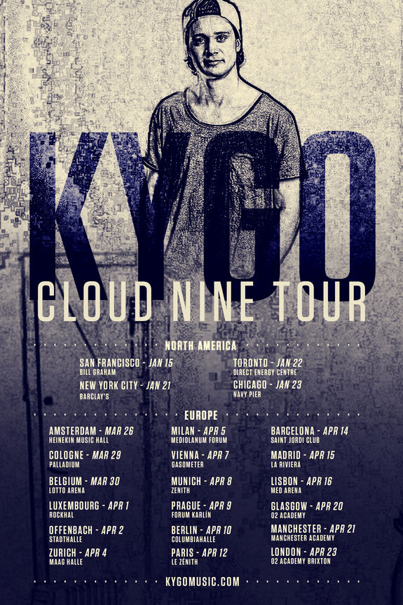 Kygo Announces Worldwide 'Cloud Nine' Tour raannt