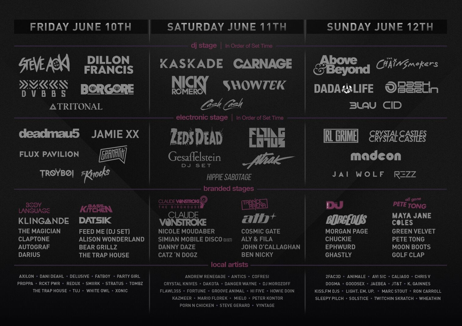Spring Awakening Addams/Medill Park Chicago, IL Daily Lineup