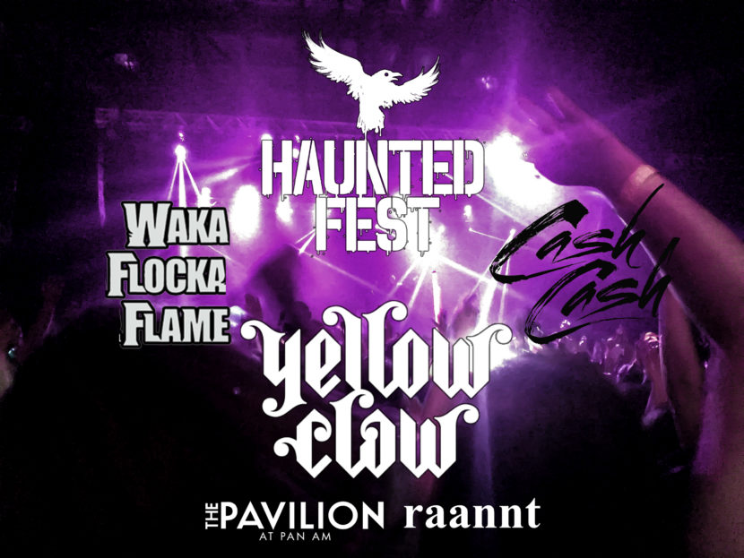 Haunted Fest Indianapolis Indiana Halloween Rave with Cash Cash Waka Flocka Flame and Yellow Claw