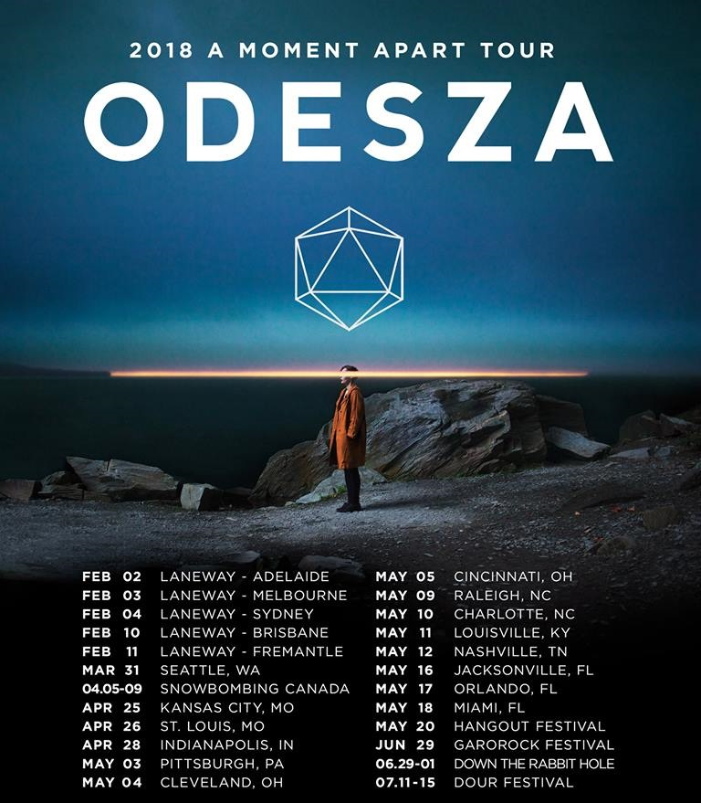 ODESZA A moment A Part 2018 Tour full list of dates and cities