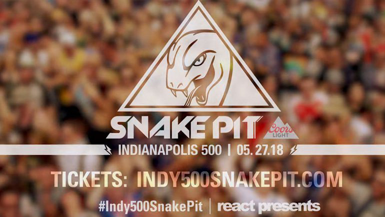 The Indy 500 Snake Pit presented by Coors Light will once again be Race Weekend's biggest party, with heavy-hitting djs Axwell Λ Ingrosso, Deadmau5, Diplo and GRiZ headlining the Sunday, May 27 Race Day concert.