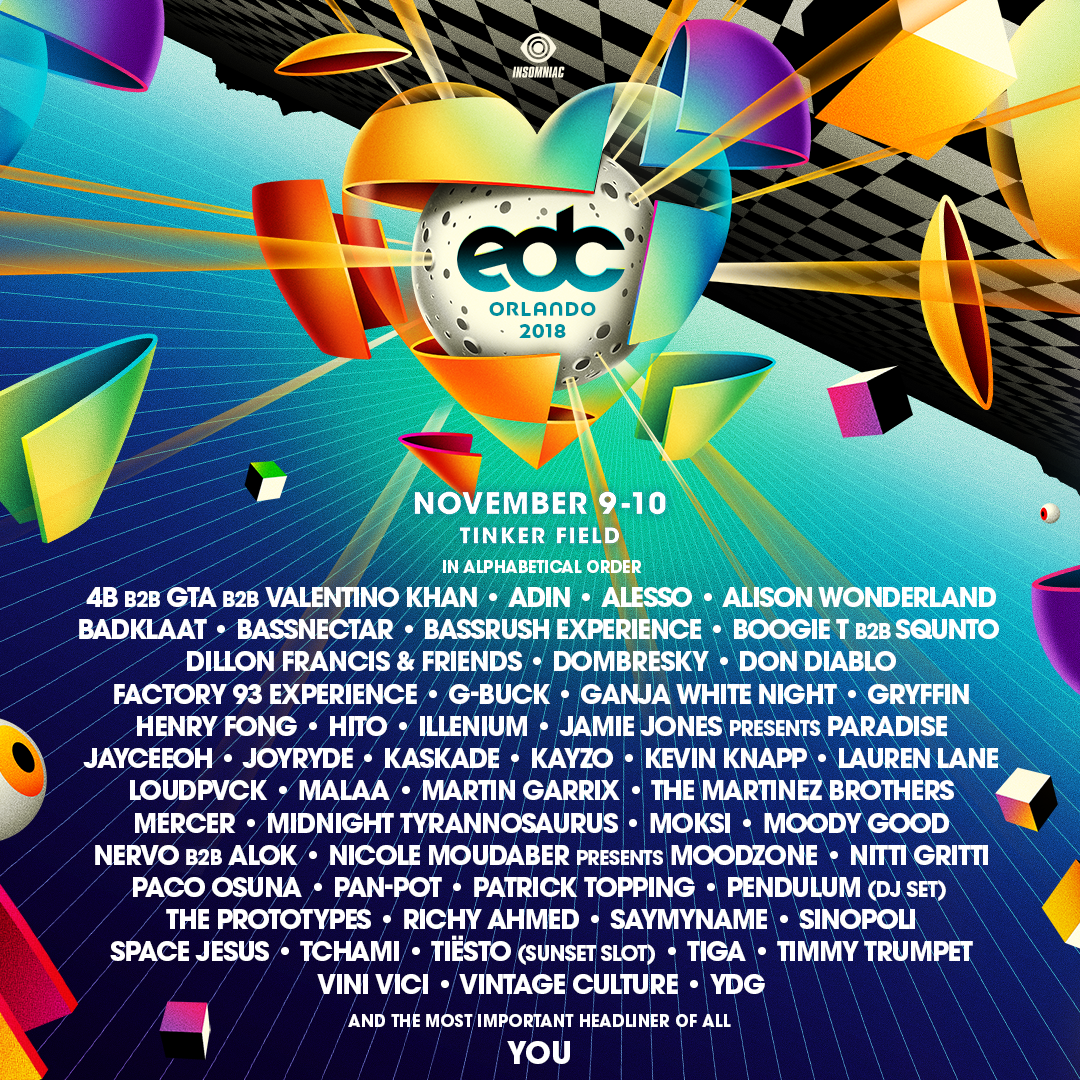 EDC Orlando 2018 full official lineup
