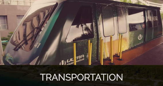 For your convenience and to reduce the local impact of carbon emissions and traffic, this year, Ultra Music Festival is pleased to offer coordinated transportation options.