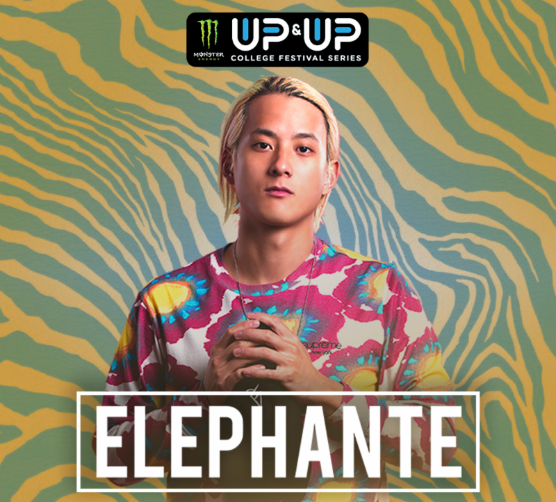 Monster Energy Announces Elephante As Headliner for Fall 2019 Up & Up College Festival Series