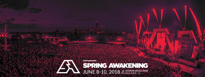Spring Awakening Music Festival 2018 Ticket Sale Chicago, IL June 8th-10th 2018