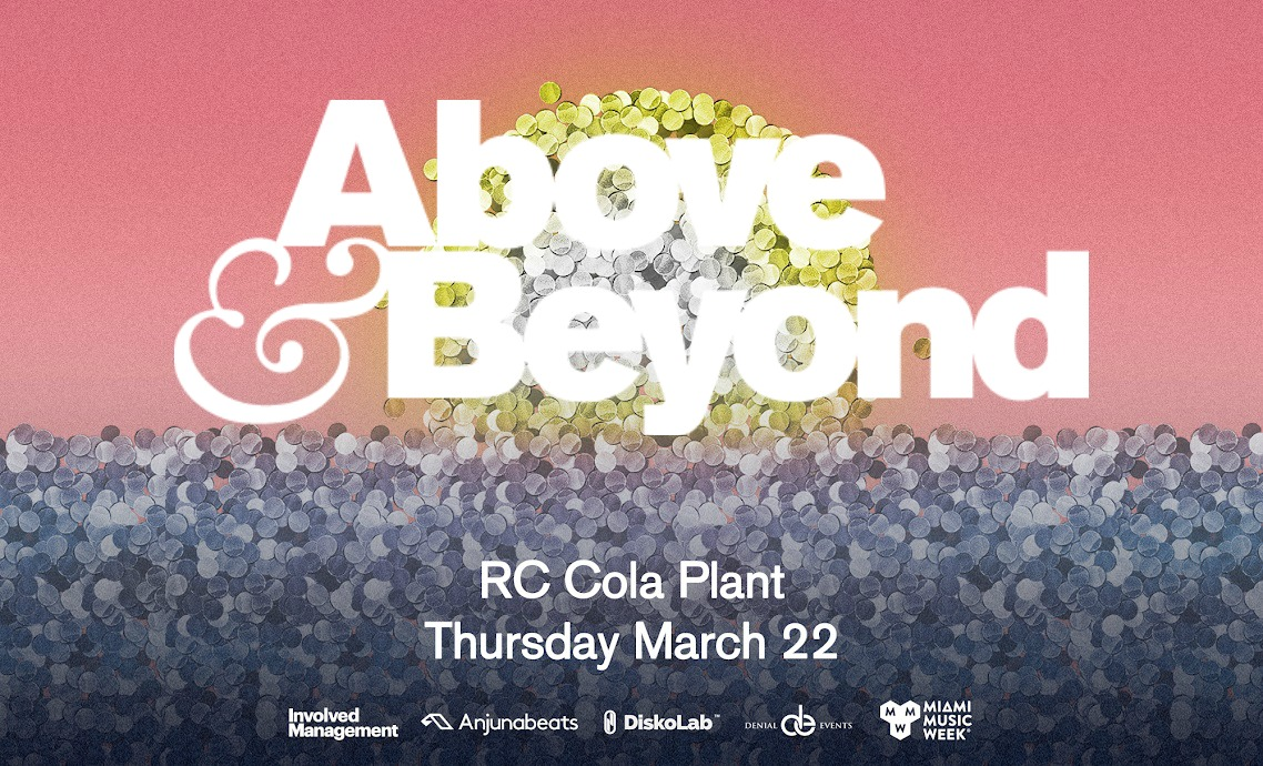 Above & Beyond is pleased to present the full lineup for their massive Miami Music Week event at the RC Cola Plant on Thursday, March 22. Celebrating the release of their acclaimed studio album Common Ground (debuted at #3 on the Billboard 200 Albums Chart), A&B will be joined at the event by Jody Wisternoff b2b Luttrell, ALPHA 9 b2b Spencer Brown, trance legends Gabriel & Dresden (celebrating the release of their own studio album The Only Road) and special guest, Seven Lions. This is Above & Beyond's third headline event at RC Cola Plant, with previous years quickly selling out.